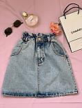 Стильная джинсовая юбка на резинке Размеры: 34,36,38,40,42, фото 2