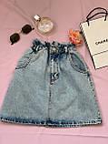 Стильная джинсовая юбка на резинке Размеры: 34,36,38,40,42, фото 5