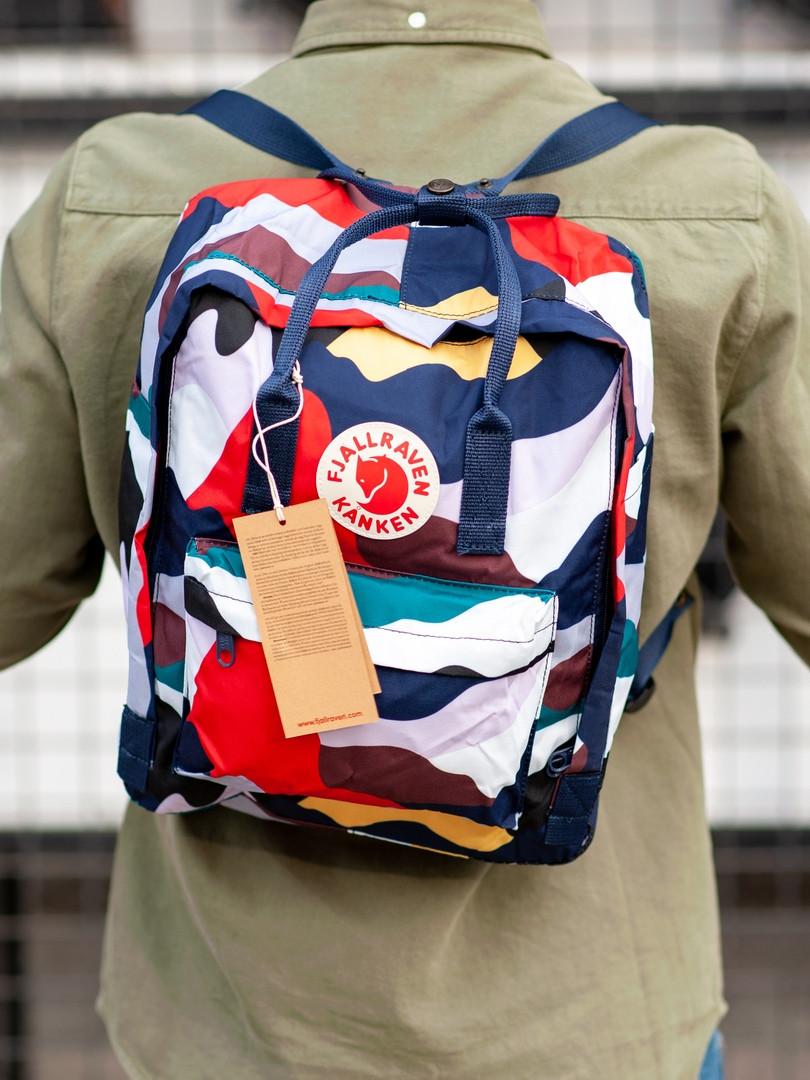Стильный рюкзак Fjallraven Kanken разноцветный / Портфель для школы и на каждый день