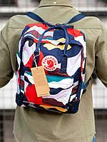 Стильный рюкзак Fjallraven Kanken разноцветный / Портфель для школы и на каждый день, фото 1