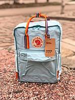 Стильный рюкзак Fjallraven Kanken голубой / Портфель для школы и на каждый день, фото 1