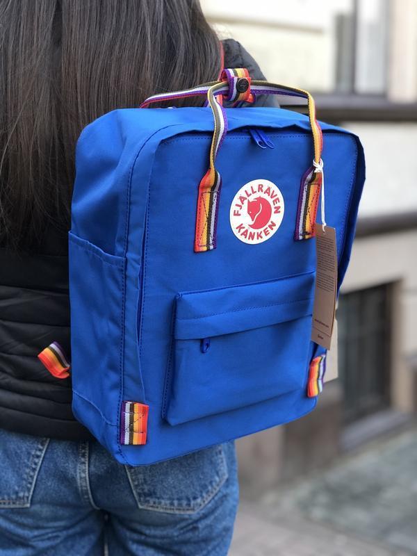 Стильный рюкзак Fjallraven Kanken синий/ Портфель для школы и на каждый день