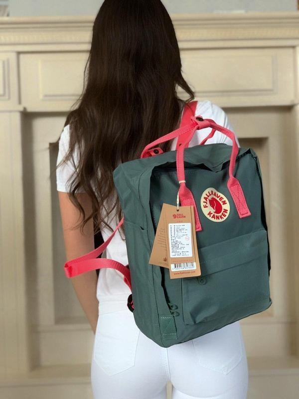 Стильный рюкзак Fjallraven Kanken серый/ Портфель для школы и на каждый день