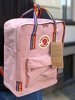 Стильный рюкзак Fjallraven Kanken розовый/ Портфель для школы и на каждый день, фото 1