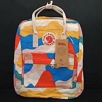 Стильный рюкзак Fjallraven Kanken цветной/ Портфель для школы и на каждый день