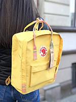 Стильный рюкзак Fjallraven Kanken жёлтый/ Портфель для школы и на каждый день, фото 1