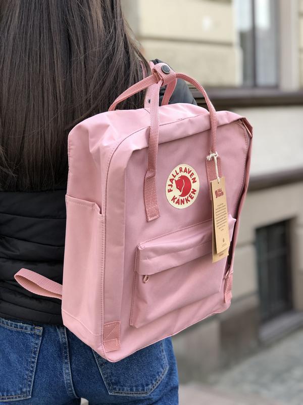 Стильный рюкзак Fjallraven Kanken пудровый/ Портфель для школы и на каждый день