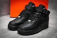 Кроссовки мужские Nike  Air Force, черные (12362),  [  44 (последняя пара)  ], фото 1
