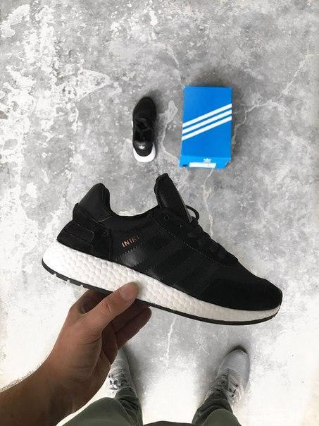 Мужские кроссовки Adidas Iniki Runner 'Core Black', Копия