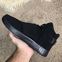 Мужские кроссовки Adidas Tubular Invader Vapour Total Black, Копия, фото 1