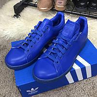 Мужские кроссовки Adidas Stan Smith Originals Blue оригинал, Копия, фото 1