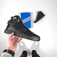 Мужские кроссовки Adidas Tubular Invander Black leather, Копия, фото 1