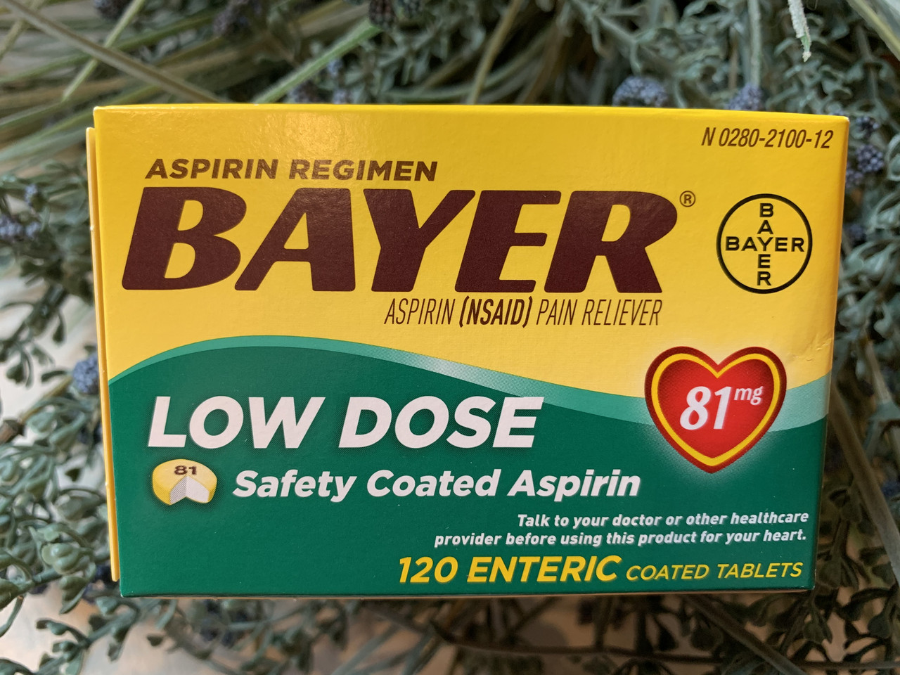 Витамины для сердца Аспирин Bayer Aspirin Low Dose 81мг, 120шт
