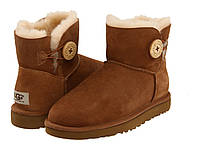 Натуральные угги UGG Australia (Угги Оригинал) UGG Mini Bailey Button Chestnut. Model: 5854