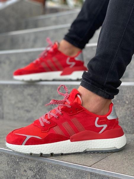 Мужские кроссовки Adidas Jogger красные. Размеры (40,41,42,43,44,45)