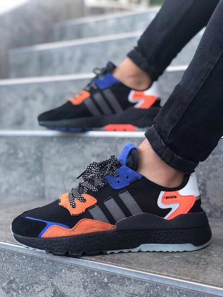 Мужские кроссовки Adidas Jogger чёрные. Размеры (40,41,42,43,44,45)