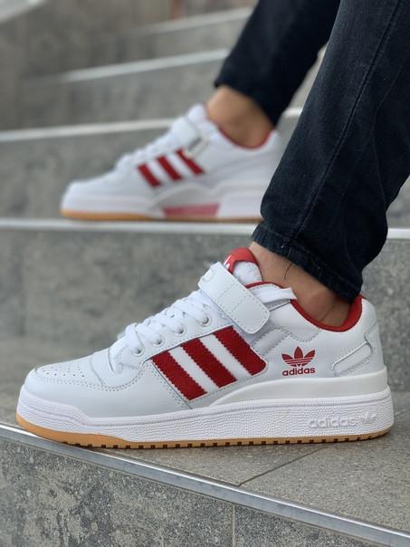 Мужские кроссовки Adidas Originals Superstar White Red. Размеры (40,41,42,43,44,45)