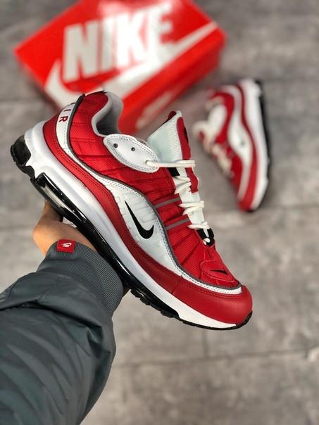 Мужские кроссовки Nike Air Max 98 красные. Размеры (40,41,42,43,44,45)