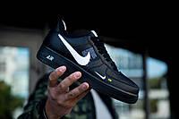 "Мужские кроссовки Nike Air Force 1 07' LV8 Utility ""Black"" чёрные., фото 1"