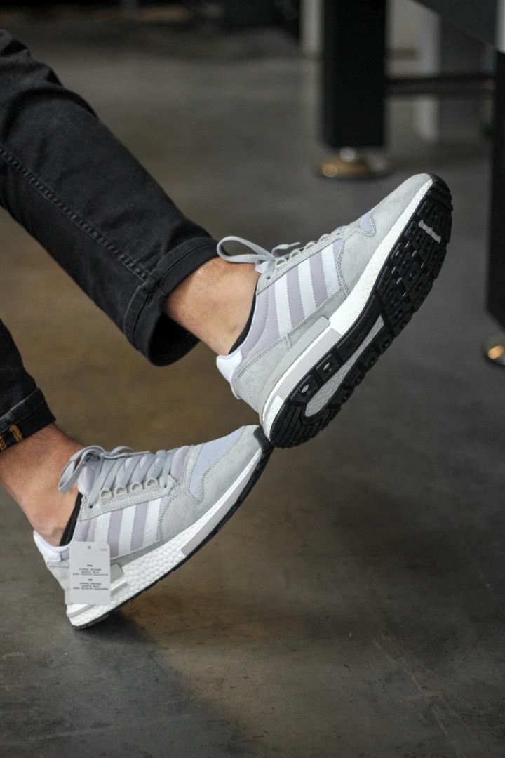 Мужские кроссовки Adidas ZX Grey серые. Размеры (40,41,44,45)