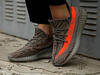 Мужские кроссовки Adidas Yeezy Boost 350 V2 Steeple Grey Beluga тёмно-серые. Размеры (37,41,43,44)