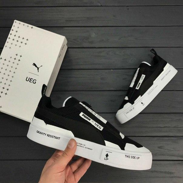Мужские кроссовки Puma UEG x Court Play Black, Копия
