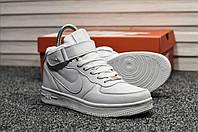 Мужские кроссовки Nike Air Force White Winter (на меху) зима, белые. Размеры (37,38,39,40,41,42,43,44,45), фото 1