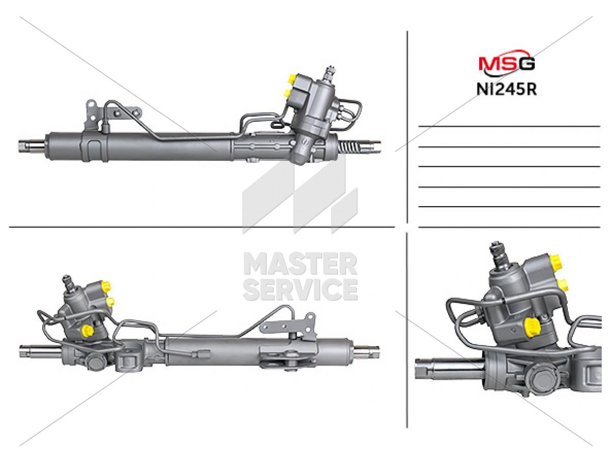 Рулевая рейка с ГУР для NISSAN Murano 2008-2016 2GS4845, 49001-1AT0A, 49001-1AT0B, NI245R, R27621RB