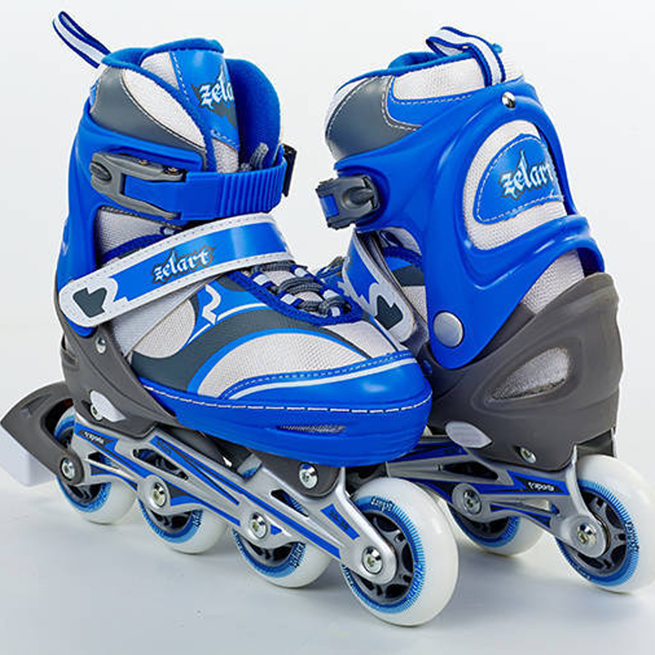 Роликовые коньки раздвижные синие Z-608