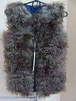 Теплый меховой жилет на девочку-подростка из овечки  от производителя, фото 1