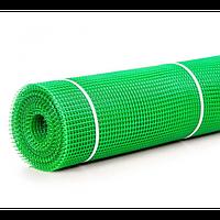 Сетка 20*20 пластмассовая 1.0х20 м (зеленая) квадрат