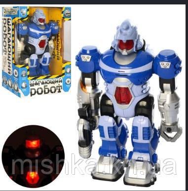 """Робот """"Крокуючий робот"""" зі звуком і світлом 25 см російська озвучка"""