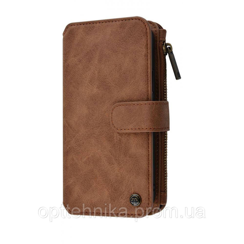 CaseMe Functional Wallet Case 3 in 1 (Eco-Leather+TPU) iPhone 11 Pro Max brown