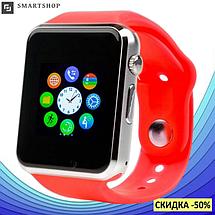 Умные часы смарт часы - Smart Watch Phone A1 в стиле Apple Watch Красные, фото 2