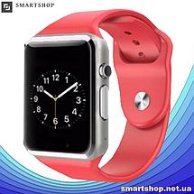 Умные часы смарт часы - Smart Watch Phone A1 в стиле Apple Watch Красные, фото 3