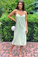 Платье-комбинация длины миди на тонких бретелях  Vistyle - мятный цвет, L (есть размеры), фото 1