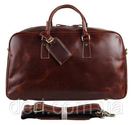 Кожаная дорожная сумка Vintage 14359 Коричневая, фото 2