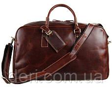 Кожаная дорожная сумка Vintage 14359 Коричневая, фото 3