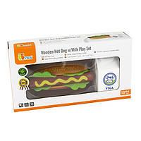 Іграшкові продукти Viga Toys Дерев'яні хот-доги і молоко (51601)
