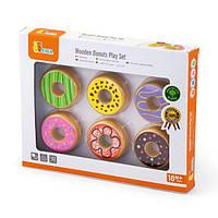 Игрушечные продукты Viga Toys Деревянные пончики (51604)
