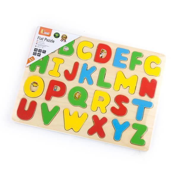 Деревянный пазл Viga Toys Английский алфавит, заглавные буквы (58543)