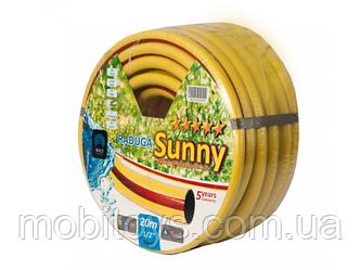 """Шланг """"Радуга"""", диаметр 3/4, длина 20м, армированный, вес 2,8 кг (Sunny)"""