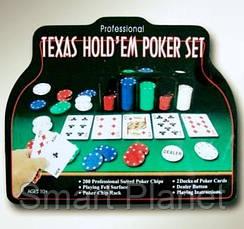 Набор Для Покера на 200 фишек и Игровым Сукном, фото 3