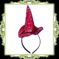 Шляпка ведьмочки на обруче с паутиной
