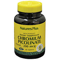 Хром Пиколинат 200мкг, Natures Plus, 90 таблеток