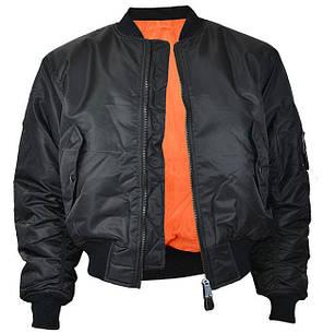 Куртка лётная MA1 MilTec Black 10401002, фото 2