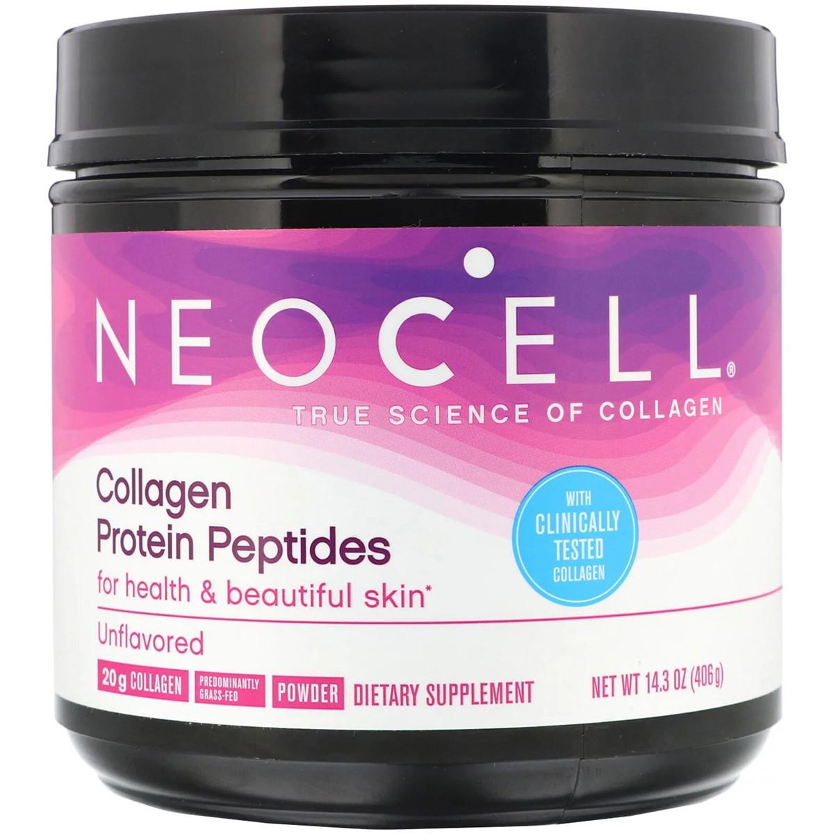 Пептиды из коллагенового белка, Без Вкуса, Neocell, Collagen Protein Peptide, порошок 406 г