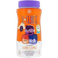 Витамин С для Детей, Апельсин Клубника, U-Cubes, Children's Vitamin C, Solgar,90 Жевательных Конфет