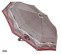Зонт женский автомат серебристый, фото 1