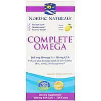 Омега Комплекс с лимоном, Complete Omega, Lemon, Nordic Naturals, 1000 мг, 120 Гелевых Капсул